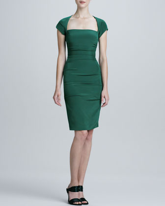 Square-Neck Cocktail Dress