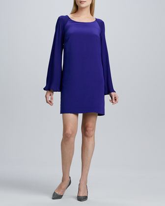 Bell-Sleeve Relaxed Dress