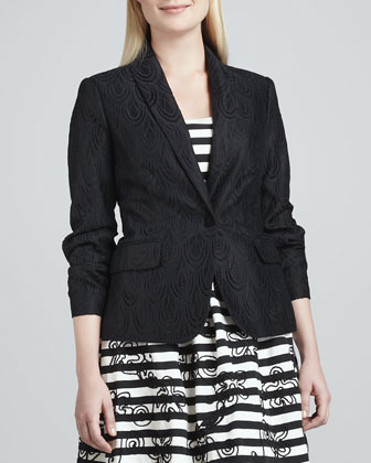 Campbell Lace Blazer, Payton Strapless Striped Dress & My Beau Belt