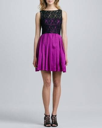 Lace Bodice Party Dress