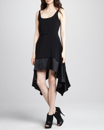 Portia Satin-Hem Dress
