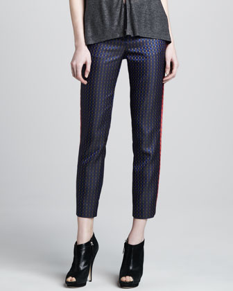 Dion Cropped Printed Trousers