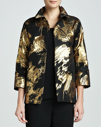 Abstract Painterly Printed Jacket