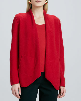 Merino-Wool Open Jacket