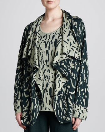 Reversible Printed Cardigan & Tank