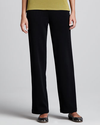 Wool Flat-Knit Pants