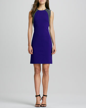 Hallie Contrast-Back Dress
