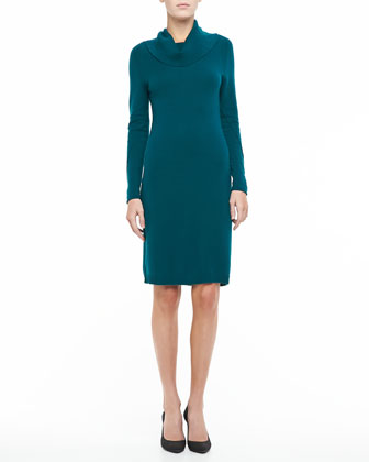 Cashmere Cowl-Neck Dress