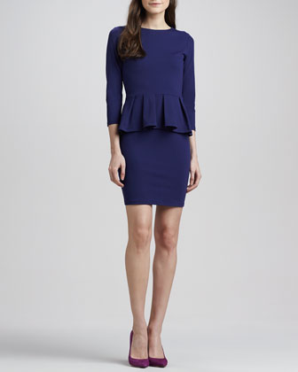 Universe 3/4-Sleeve Peplum Dress