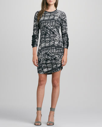 Helmsley Long-Sleeve Tattoo Dress