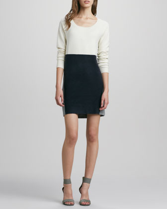 Vhari Long-Sleeve Colorblock Dress