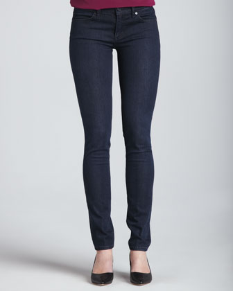 Lillian Long-Sleeve Top & Rinsed Denim Leggings