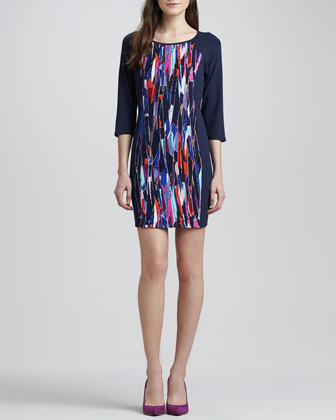 Mulberry Stained Glass Shift Dress