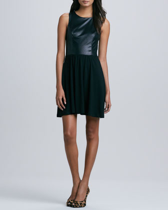 Tabitha Textured Tank Dress, Black