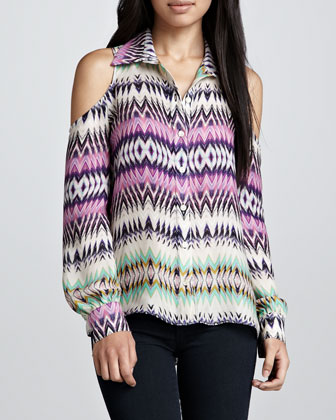 Luella Shockwave Could-Shoulder Blouse