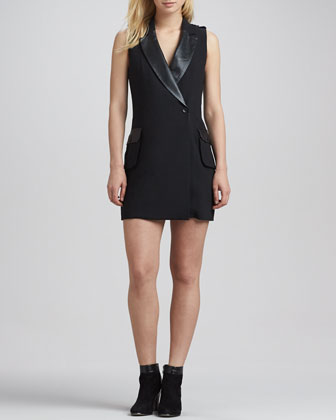 Breanne Sleeveless Jacket-Dress