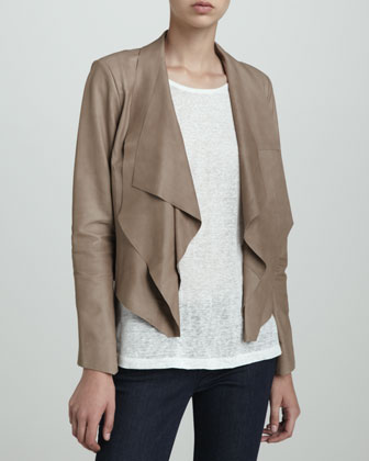 Lightweight Leather Cascade Jacket