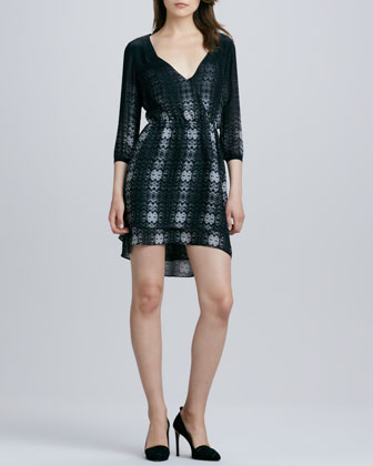 Quinn Printed 3/4-Sleeve Dress