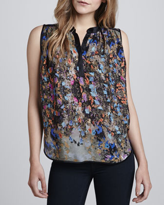 Tess Sleeveless Printed Top