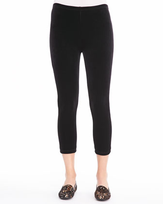Velour Cropped Leggings, Petite