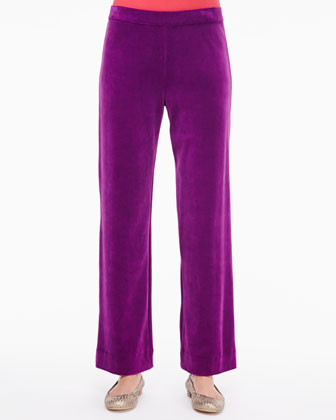 Solid Velour Pants, Women's