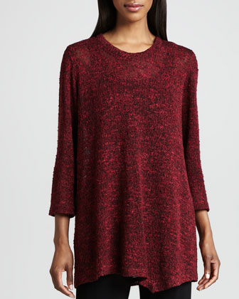 Asymmetric Cozy Knit Tunic, Women's