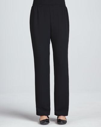 Tie-Dye Boxy Jacket, Microfiber Tank Top & Microfiber Straight-Leg Pants
