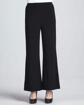 Wide-Leg Stretch Pants, Petite