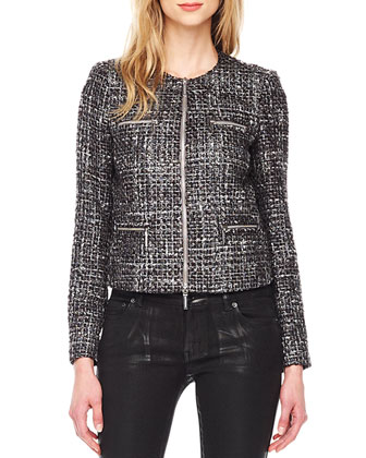 Tweed Zip Jacket