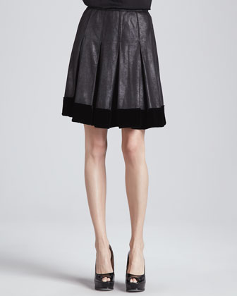 Anora Faux-Leather Skirt
