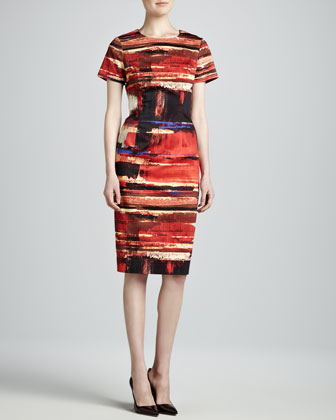 Art-Print Twill Dress