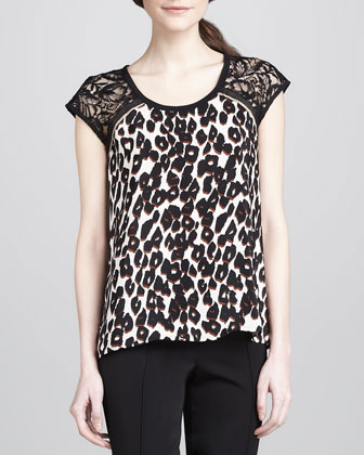 Capazo Animal-Print Top