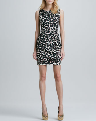 Fitted Cheetah-Print Dress