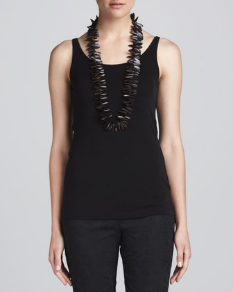 Sheer High-Low Georgette Shirt, Silk Jersey Camisole & Jacquard Cropped ...