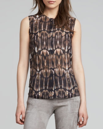 Morisot Printed Sleeveless Blouse