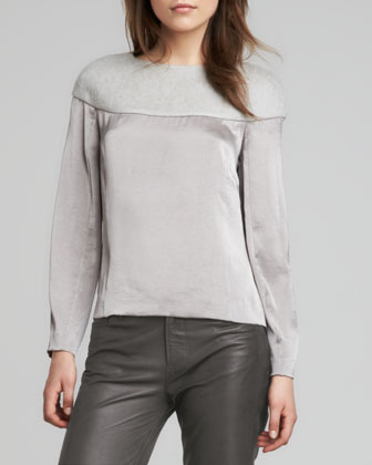 Svetlana Knit-Top Blouse