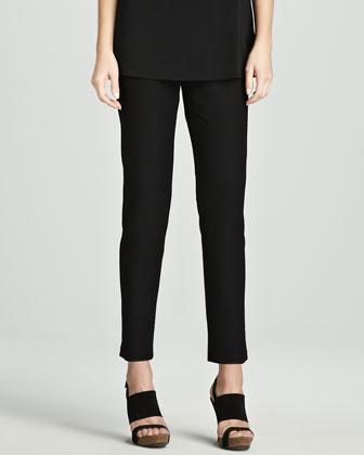 Slim Stretch Crepe Ankle Pants, Women's