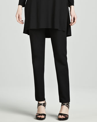 Lightweight Jersey Tunic & Straight-Leg Ponte Pants