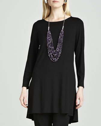 Lightweight Jersey Tunic, Black
