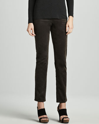 Cozy Long Lean Top & Slim Stretch Corduroy Jeans