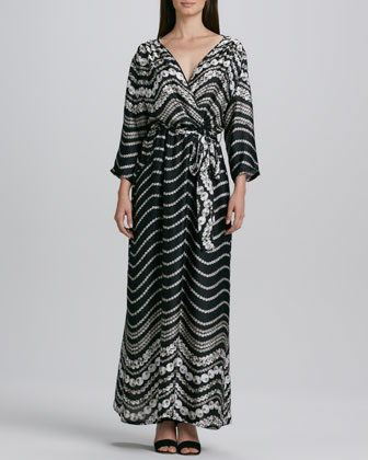 Printed Maxi Dress, Women's