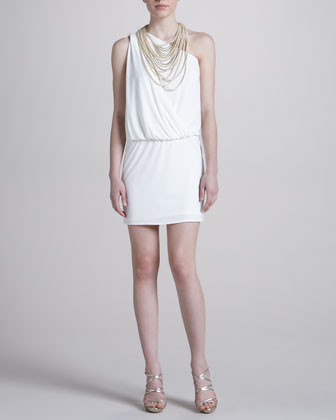 One-Shoulder Chunky Necklace Dress