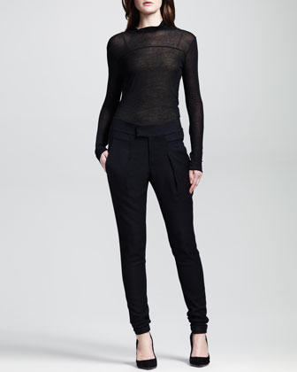 Linear Drape Skinny Trousers