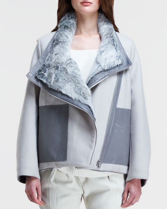 Void Reversible Fur-Felt Coat