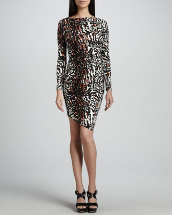 Wild Cat Printed Jersey Dress, Women's