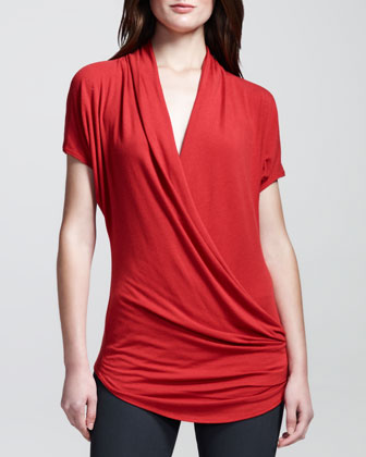 Nova Cross-Front Jersey Top