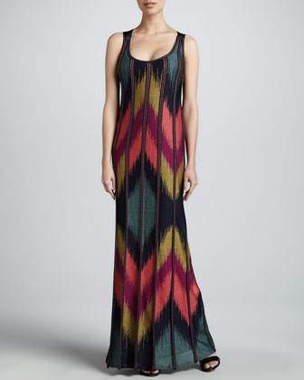 Metallic Ikat Maxi Dress