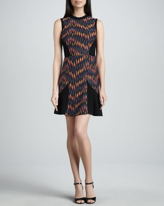 Broken Zigzag Sleeveless Dress