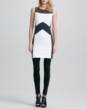 Jemima Colorblock Fitted Dress