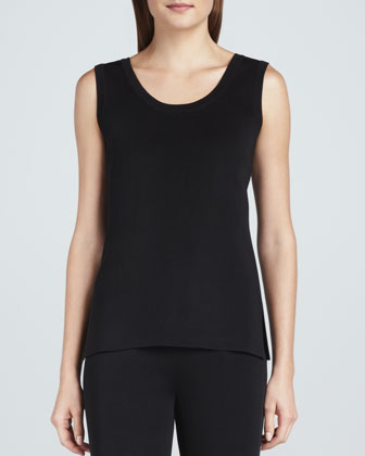 Amy Knit Tank, Black